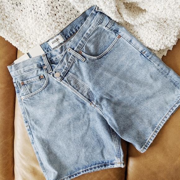 Agolde crisscross shorts